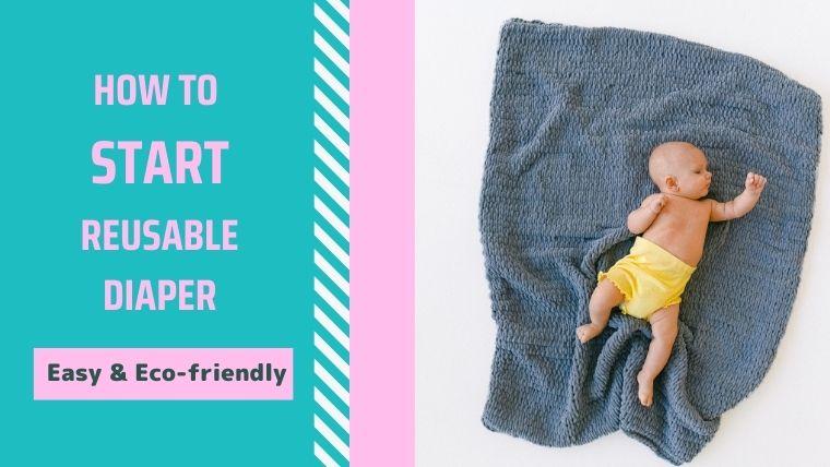 広げたタオルの上におむつをはいた赤ちゃん
