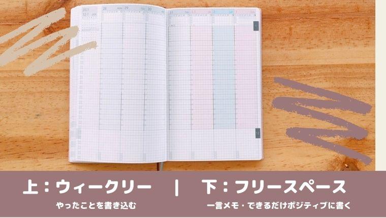 手帳 ウィークリーページ