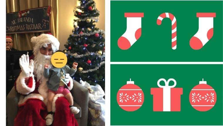 サンタさんと写真撮影
