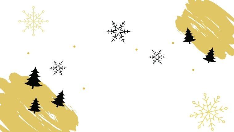 白い背景にクリスマス柄